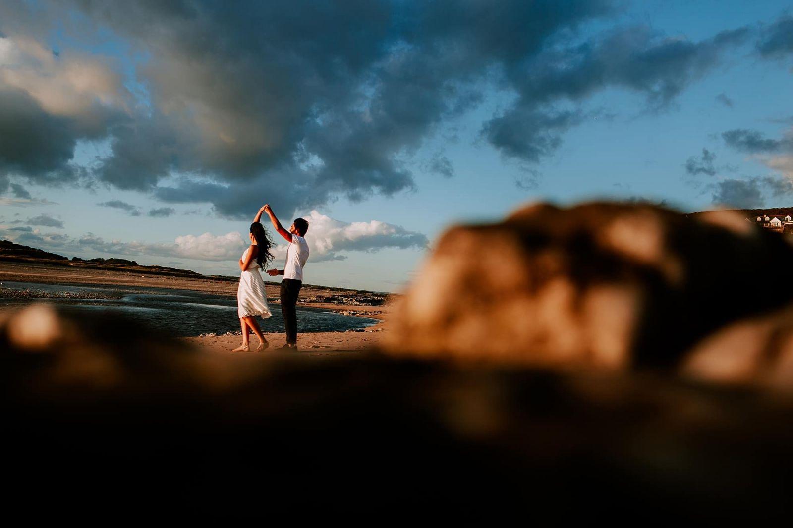 Pre-Wedding Engagement Ogmore South Wales Asian Wedding Photographer Cardiff Sheetal Varsani