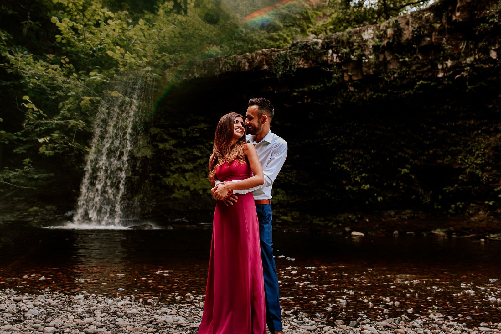 Brecon Waterfall Engagement Portrait Cardiff Asian Wedding Photographer Sheetal Varsani