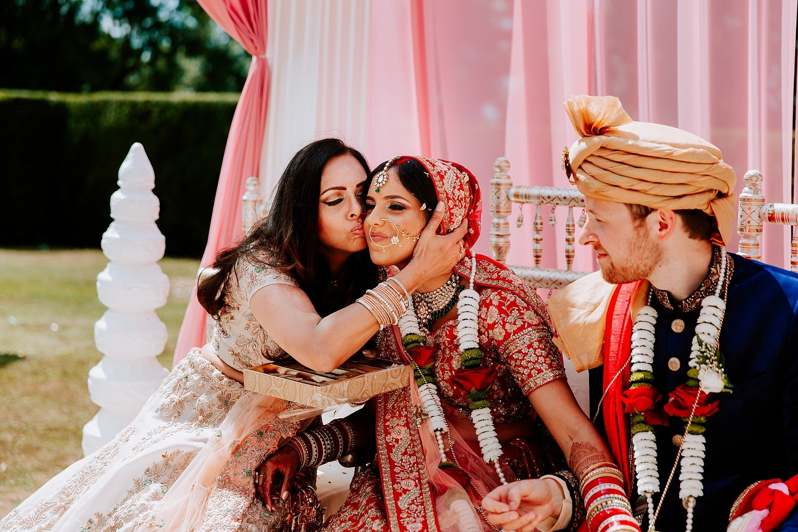 Outdoor Hindu Wedding Fusion Irish Indian Asian Photography Rushton Hall