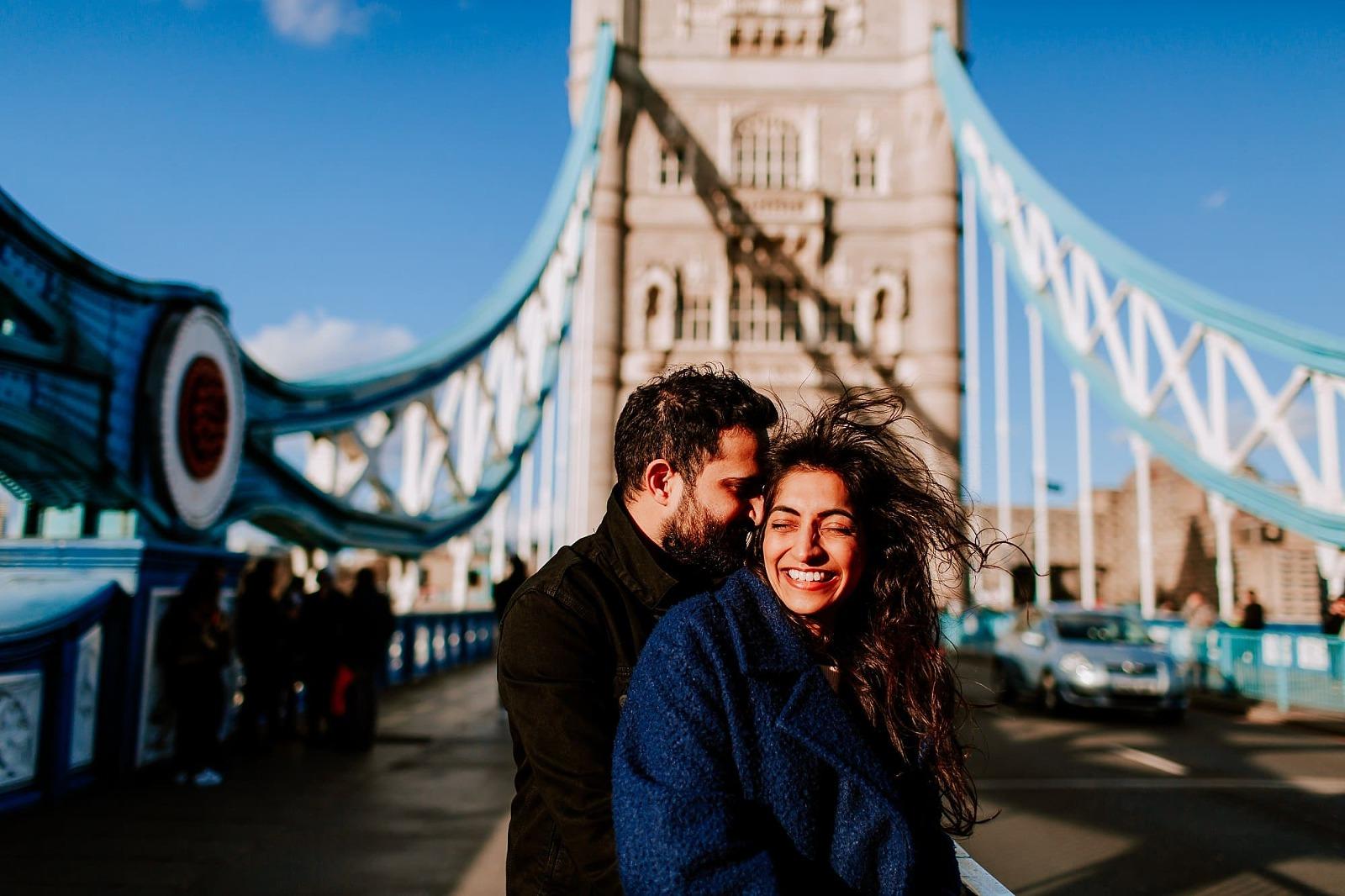 Tower Bridge London Pre Wedding Shoot Engagement Asian Photographer Sheetal Varsani